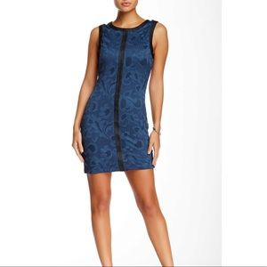 Brand new sheath Tart Dress Blue Black L NWT